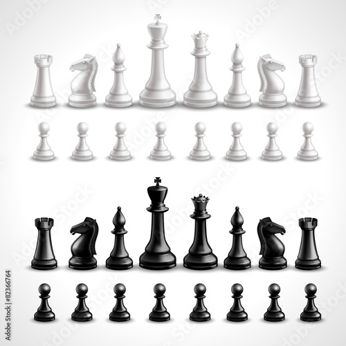 Realistic Chess Figures - 82366764