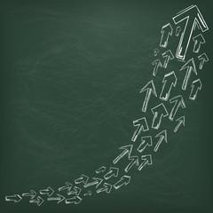 Blackboard Arrows Growth