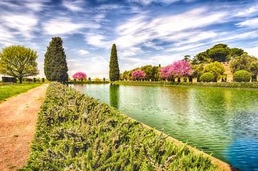 Ancient Pool in Villa Adriana (Hadrian's Villa), Tivoli, Italy