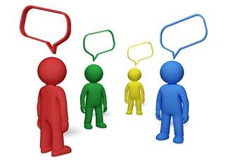 Discussion. 3D. Speech Bubble