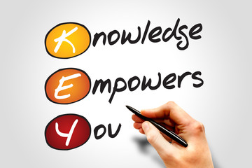 Knowledge Empowers You (KEY), business concept acronym