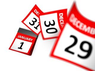 Calendar. 3D. Blue calendar new year 2012
