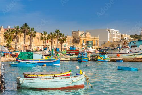 Papiers peints Mer / Ocean Marsaxlokk in Valletta