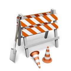 Construction Site. 3D. Under construction