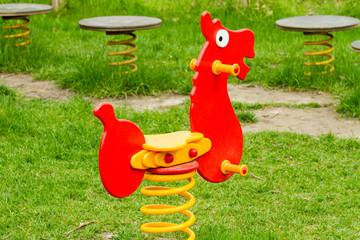 red horse playground equipment