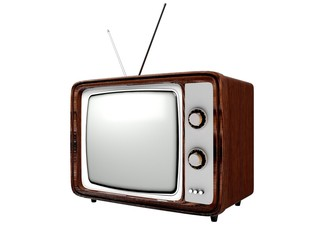 Television. 3D. Retro TV