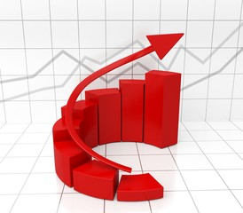 Growth. 3D. Charts