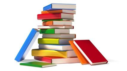 Book. 3D. Colorful Books