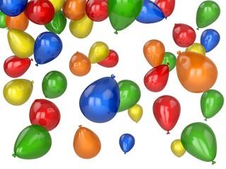 Balloon. 3D. Coloured Balloons