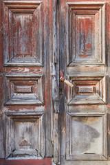 Old vintage rustic wood door
