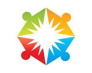 Colorful People Logo Graphic