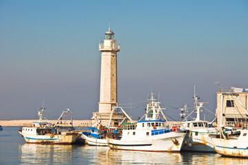 Panoramic view of Molfetta. Puglia. Italy.