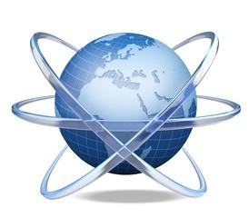 Globe. 3D. Worldwide Ð¡ommunications