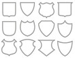 Collection of heraldic shield shapes - 82373782