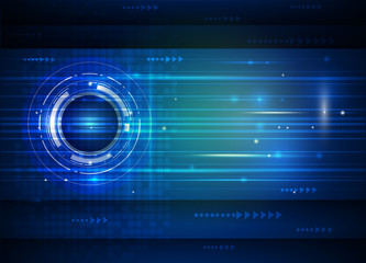 Abstract future digital technology blue background