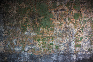 Old textured colorful wall with stains