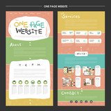 childlike one page website template design poster