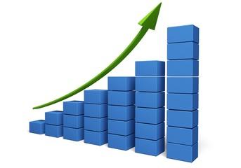 Business. 3D. Business Chart V
