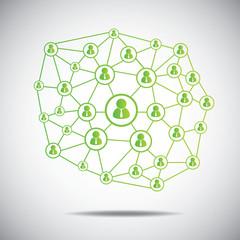 connection communication concept.