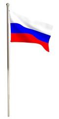 Flag. 3D. Russian Federation Flagpole
