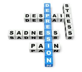 Depression. 3D. Depression