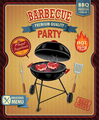 Vintage barbecue poster design