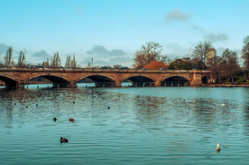 Serpentine River in Hyde Park in London, United Kingdom