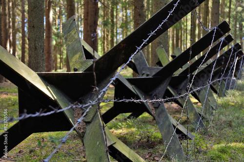 Leinwandbild Motiv Antitank Barrier