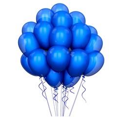 Balloon. 3D. Blue Party Balloons