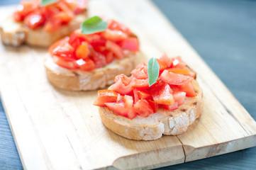 Tomato Bruschetta with oil