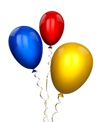 Wind. 3D. Color Balloons