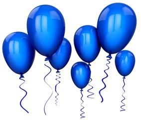 Balloon. 3D. Blue Balloons