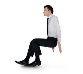 Business man push something