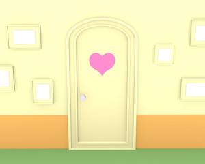 ハートのドア