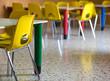 plastic chairs in the nursery kindergarten class