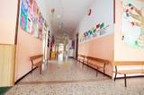 Fototapety hallway to a nursery kindergarten without children