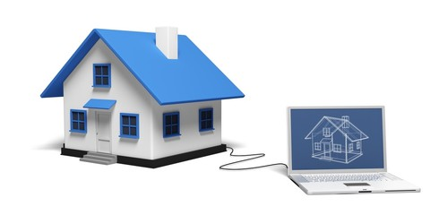 House. 3D. Online Real Estate