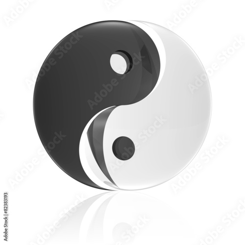 yin und yang taiji symbol by blobbotronic royalty free stock photos 82383193 on. Black Bedroom Furniture Sets. Home Design Ideas