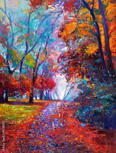 Autumn landscape - 82385112