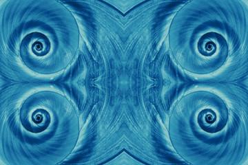Blue snail spiral