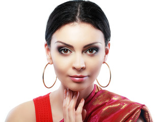 indian woman face