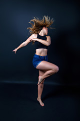 Young woman in modern dance