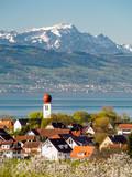Kressbronn am Bodensee mit Blick auf den Säntis
