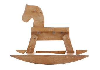 old wood horse
