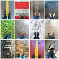 in piedi collage
