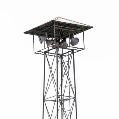 Speaker on high tower, Thailand asia Isolated