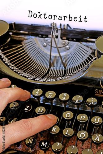 Poster Alte Schreibmaschine Doktorarbeit