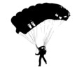 Parachutist Jumper in the helmet after the jump. Vector illustra - 82392553