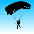 Parachutist Jumper in the helmet after the jump. Vector illustra - 82392572