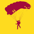 Parachutist Jumper in the helmet after the jump. Vector illustra - 82392591